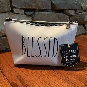😘 NWT Rae Dunn Cosmetic Pouch - BLESSED